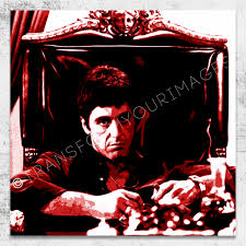 pacino scarface world is mine red square wall art 0 pacino scarface world is mine red square wall art