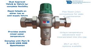 mixing valves ausimix wras approved thermostatic mixing valves