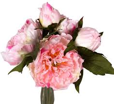peony bouquet pink peony bouquet 10in paul michael company