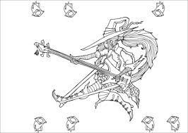 rock star witch coloring free printable coloring pages