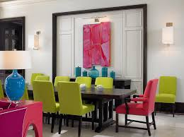 Tropical Dining Room Furniture Split Complementary Color Scheme Dining Room Tropical With Glass