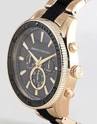 gold armani bracelet images Armani exchange armani exchange ax1814 chronograph bracelet