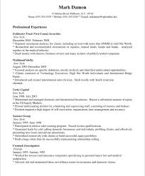 Sample Profiles For Resumes by Sales Representative Resume Profile Professional Experience Mark