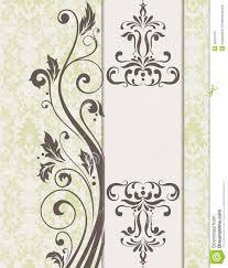 Floral Invitation Card Designs Invitation Card Design Stock Photo Image 33034720