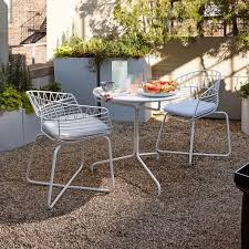 Dining Set 2 Chairs Soleil Metal Outdoor Bistro Dining Set Table 2 Chairs West Elm