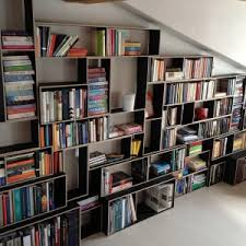 Unusual Bookcases Decorating Unusual Bookcases With Tree Shape For Studio Room Decor