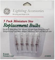 5pk 2 5v clr repl bulb spare tree lights