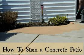Dyed Concrete Patio by How To Stain A Concrete Patio Exquisitely Unremarkable