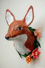 paper mache earrings paper mache animal heads diy tutorial
