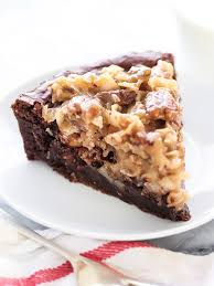 german chocolate brownie pie foodiecrush