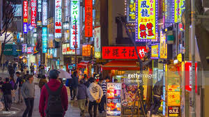 japan red light district tokyo kabukicho redlight district in shinjuku tokyo japan stock photo