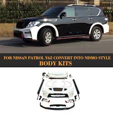 nissan patrol y62 convert into nismo style body kit front bumper