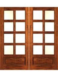 JELDWEN Woodgrain Lite Unfinished Oak Double Prehung Interior - Home depot french doors interior