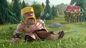 coc wallpaper clash of clans barbarian full of arrows 1280x720 hd 16 9