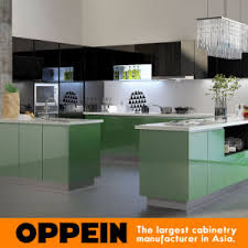 Lacquer Kitchen Cabinets by China Four Edges Cabinets Green Lacquer Kitchen Cabinets Op15 L11