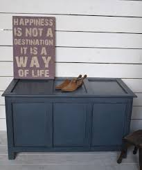 Shabby Chic Furniture Uk by Super Old Vintage Painted Ottoman Bedding Box Trunk Chest Shabby