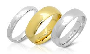 the goods wedding band stainless steel wedding bands groupon goods