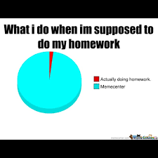 Homework Meme - piechart percent 100 circlegraph homework meme math funny