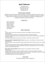 Perfect Resume Examples Professional Insurance Claims Representative Resume Templates To