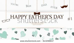 congratulation poster youre best happy fathers stock vector 643298617
