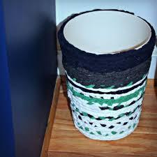 Teal Powder Room No Sew Fabric Basket Knock It Off Kim