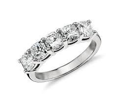 engagement rings cushion cut classic cushion cut five diamond ring in platinum 2 ct tw