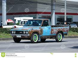 old nissan truck private old pickup car nissan or datsan 1500 editorial photo