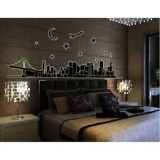 city night glow in the dark sticker easy peel and stick wall city night glow in the dark sticker