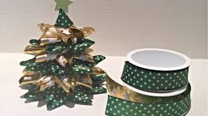 how to make a ribbon christmas tree diy crafts tutorial