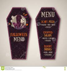 free halloween backdrops for photography halloween menu design in coffin shape stock vector image 75903805