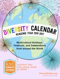 2016 17 diversity calendar holidays from around the world
