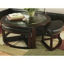 Coffee Table With Stools Underneath Furniture Round Coffee Table With Seating Underneath Coffee Table
