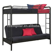 Wholesale Black Twin Over Futon Metal Folding Bunk Bed Childproof - Folding bunk beds
