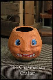 Paper Mache Pumpkin Scary Paper Mache U0027 Pumpkin Reproduction