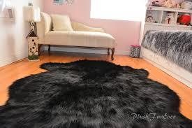 Faux Fur Area Rugs by Sheepskin Flokati Nursery Black Bear Faux Fur Area Rug Baby Rugs