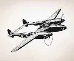 vinyl wall decal sticker fighter plane os aa704