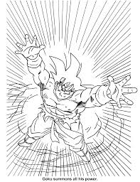 coloring page dragon ball z coloring pages 3