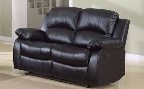 Recliners Walmart Classic 2 Seat Bonded Leather Double Recliner Loveseat Walmart Com