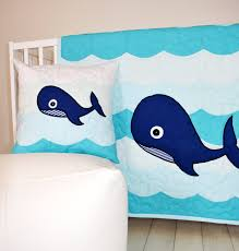 Nautical Quilt Nautical Nursery Bedding Whale Crib Quilt Childrens Room