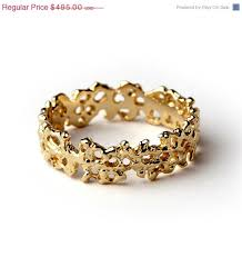 unique women s wedding bands on sale coral unique wedding band ring 14k yellow gold wedding