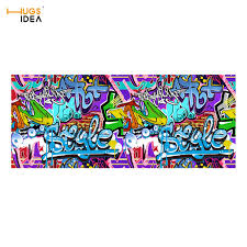 Graffiti Area Rug Hugsidea Graffiti Printing Anti Slip Stair Carpet Felt