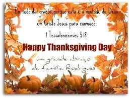 happy thanksgiving day feliz dia de ação de graças by