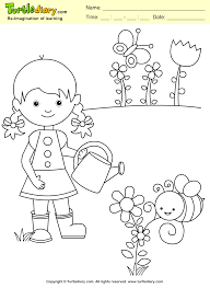 garden coloring sheet turtle diary