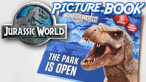 jurassic world picturebook the park is open dino cards