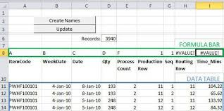 how to make a calculation table in excel production planning in excel separate data calculation and reporting