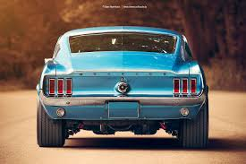 1967 fast back mustang 1967 ford mustang fastback rear by americanmuscle on deviantart