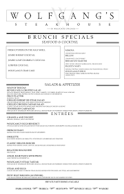 menu for brunch brunch menu wolfgang s steakhouse waikiki honolulu hi