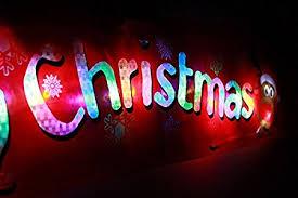 light up window decorations new flashing led light up led merry christmas xmas hanging window