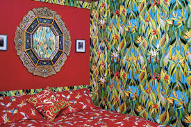 artist packs his 275 square foot studio with bright patterns