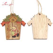 aliexpress com buy 9pcs mini house christmas wooden pendants